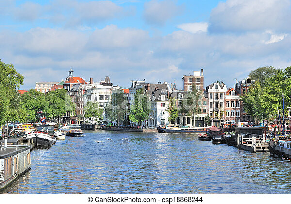 Amsterdam in a sunny summer day - csp18868244