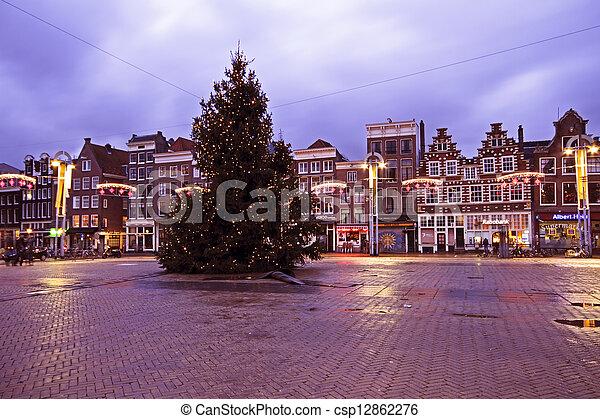 Amsterdam Niederlande Weihnachten Amsterdam Niederlande