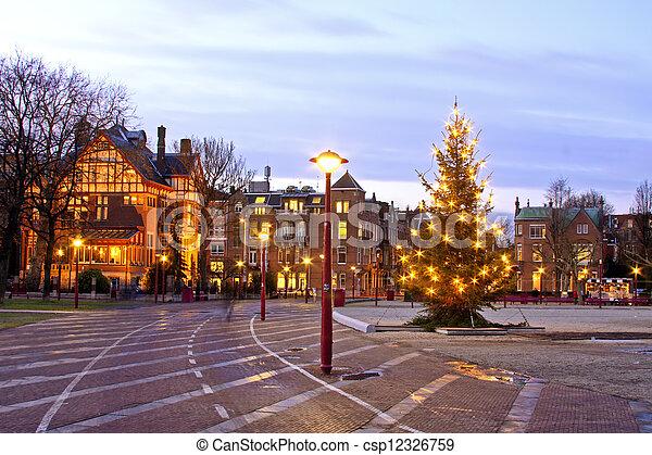 Amsterdam Niederlande Weihnachten Museumplein
