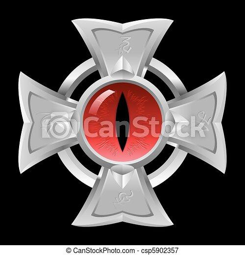 Amulet. Dragon Eye.  - csp5902357
