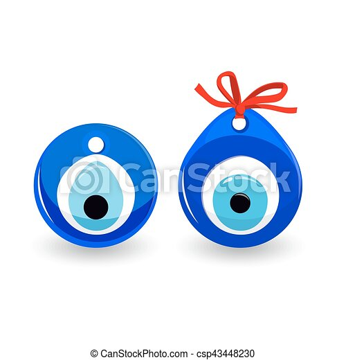Amulet Evil Eye Isolated. Protective Talisman - csp43448230