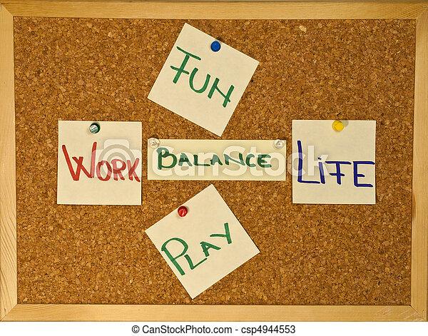 amusement, équilibre, vie, travail, jeu - csp4944553