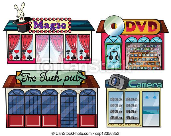 Amusement area, dvd and camera shop - csp12356352