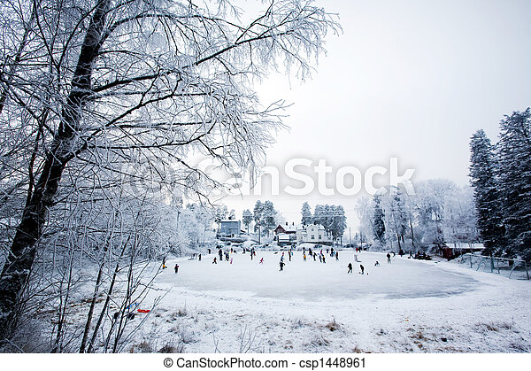 amusement, hiver - csp1448961