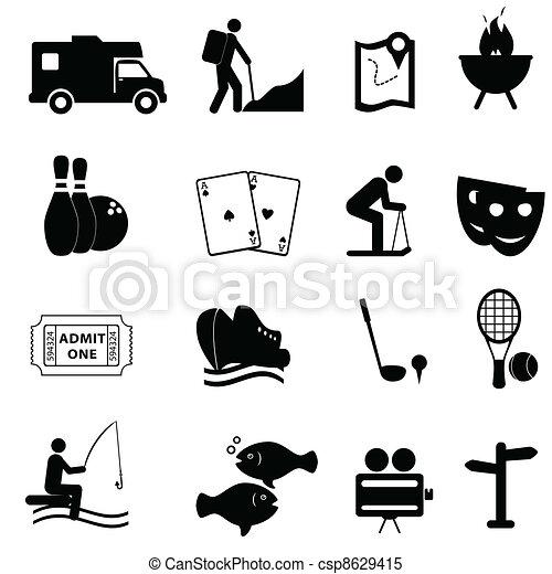 amusement, loisir, icônes - csp8629415
