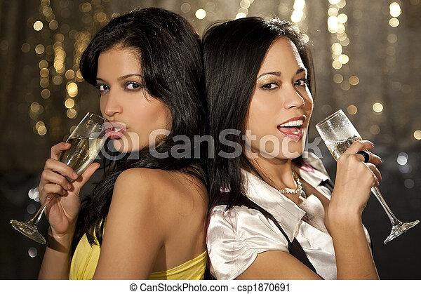 amusement, matraquer, femmes - csp1870691
