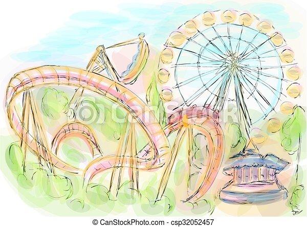 amusement park - csp32052457