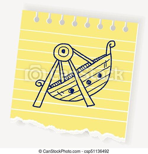 amusement park doodle - csp51136492