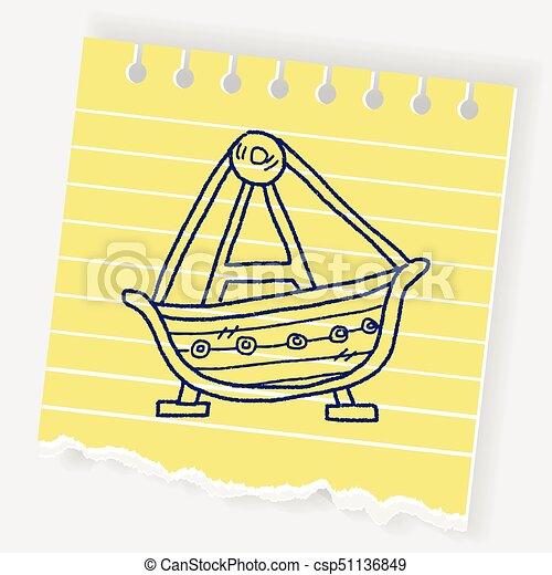 amusement park doodle - csp51136849