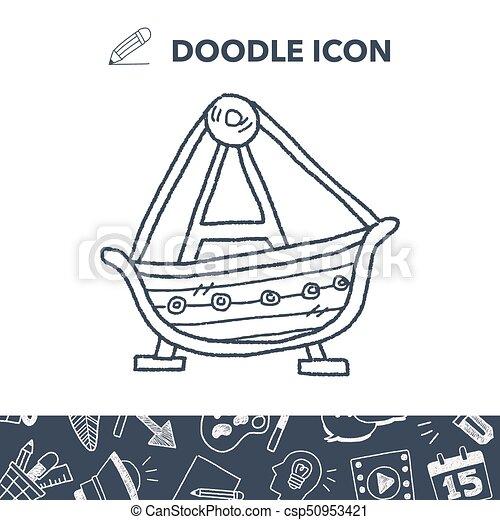 amusement park doodle - csp50953421