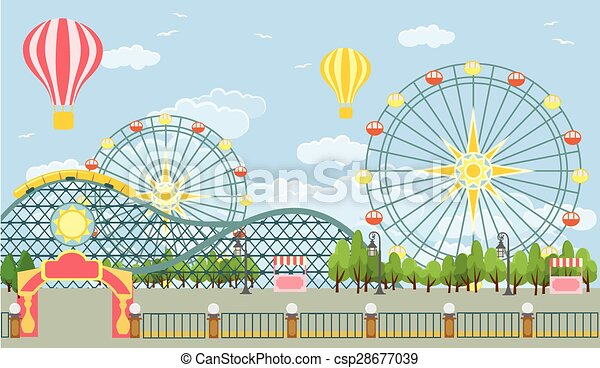 Amusement park. vector...