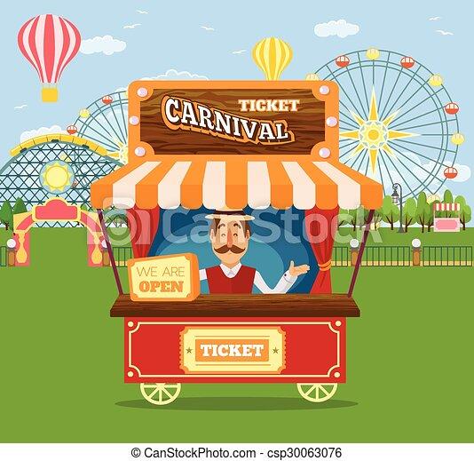 Amusement park - csp30063076