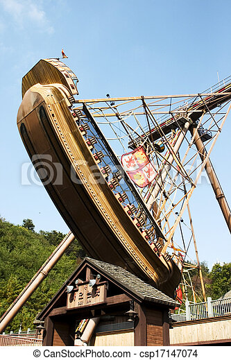 Amusement Park in south korea - csp17147074