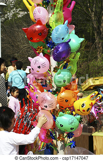 Amusement Park in south korea - csp17147047