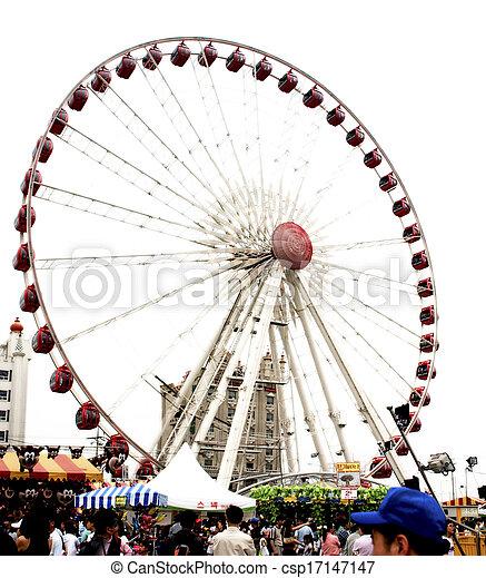 Amusement Park in south korea - csp17147147