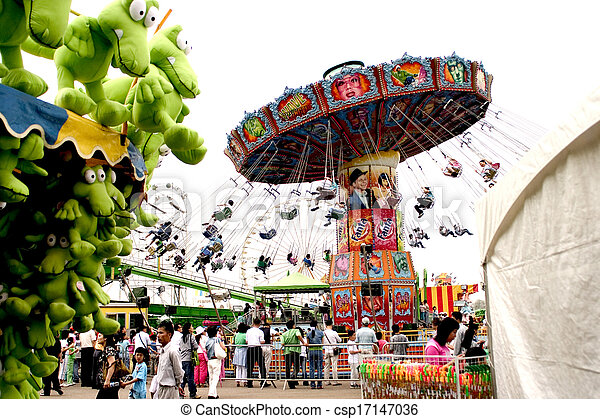 Amusement Park in south korea - csp17147036