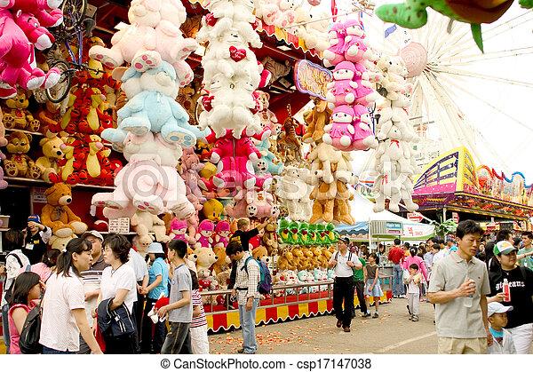 Amusement Park in south korea - csp17147038