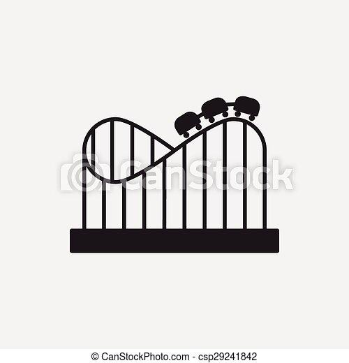 amusement park roller coaster icon - csp29241842