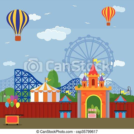 Amusement park - csp35799617