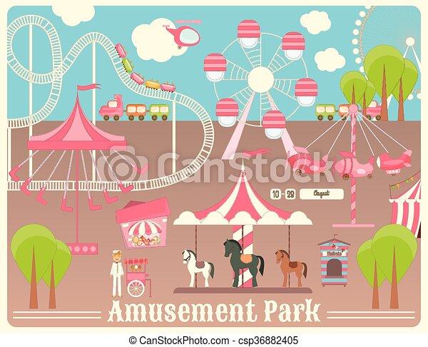 Amusement Park - csp36882405