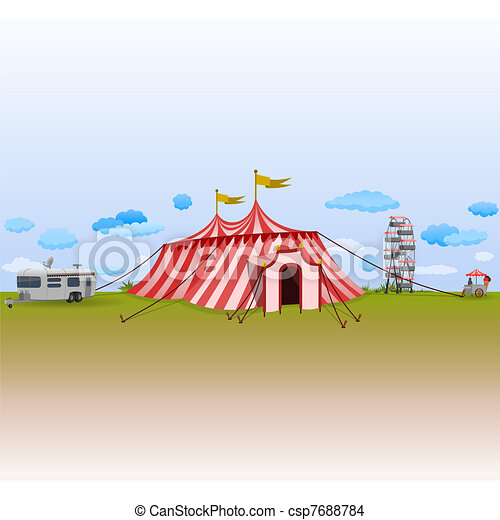 Amusement Park with Circus - csp7688784