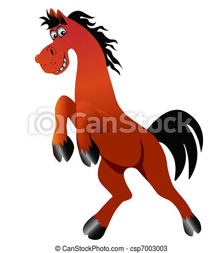 amusing horse is insulated - csp7003003