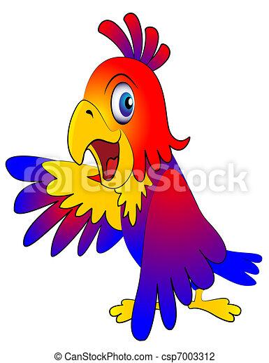 amusing parrot reasons - csp7003312