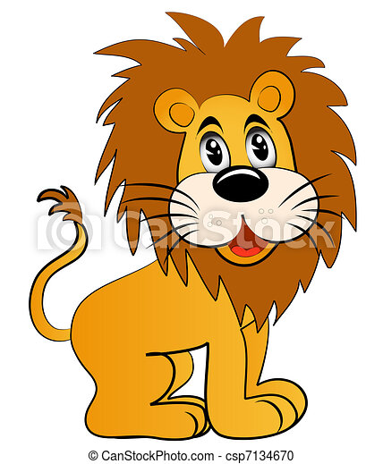amusing young lion - csp7134670