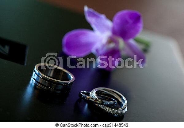 anéis, casório - csp31448543