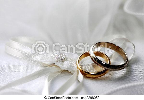anéis, casório - csp2298059