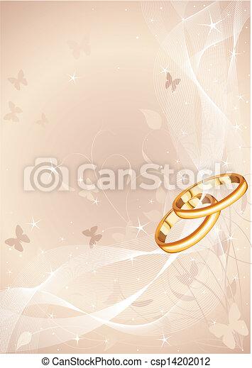 anéis, desenho, casório - csp14202012