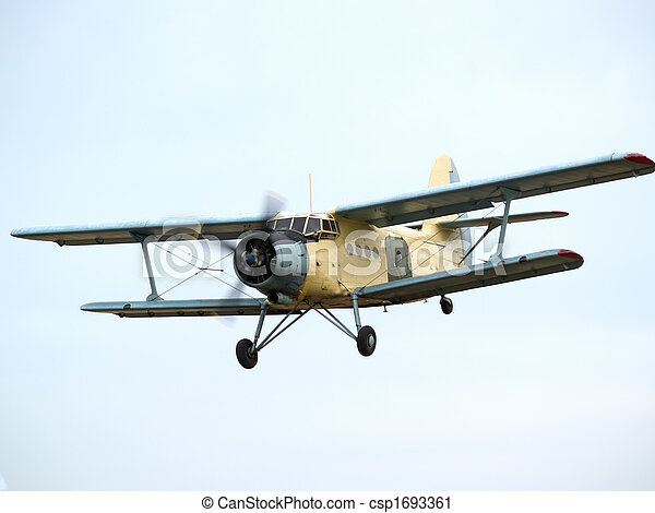 AN-2 on final approach - csp1693361