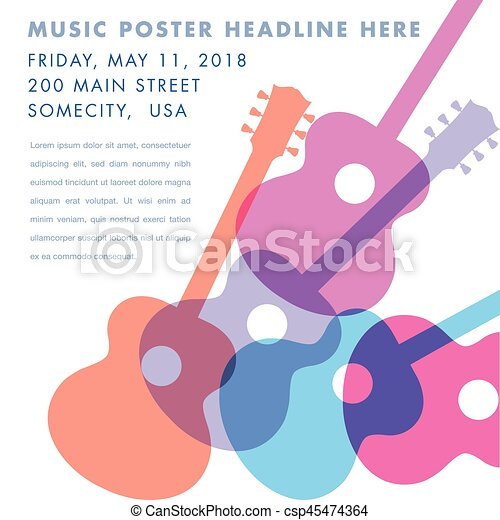 An Abstract Acoustic Guitar Design Ideal For Gig Flyers Or Cd Art