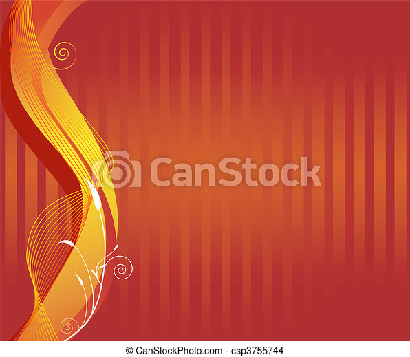 an abstract autumn background - csp3755744
