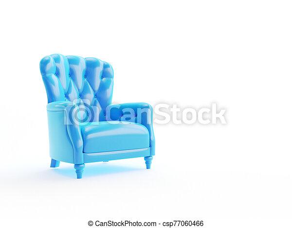 an abstract blue arm chair - csp77060466