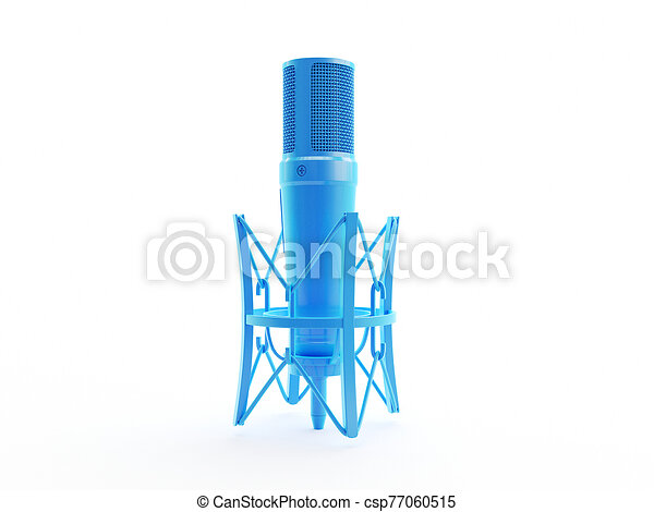 an abstract blue microphone - csp77060515