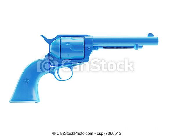 an abstract blue revolver - csp77060513