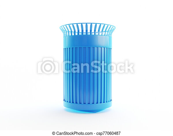 an abstract blue trash can - csp77060487