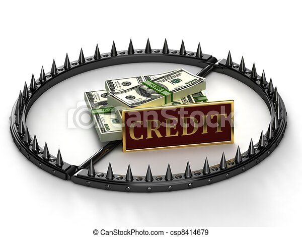 An abstract image of credit slavery - csp8414679