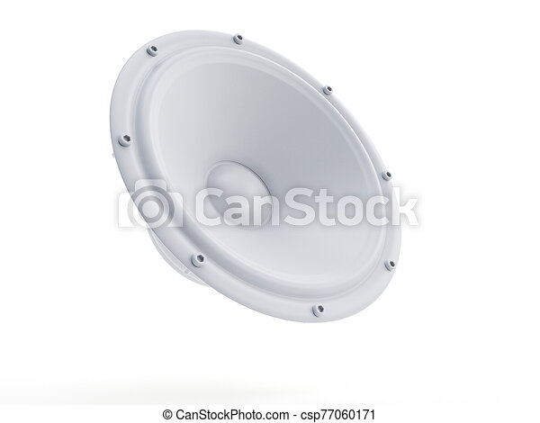 an abstract white speaker - csp77060171