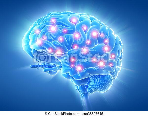 an active brain - csp38807645