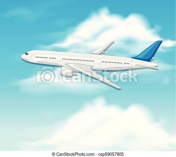 An Airplane on Sky - csp59057905