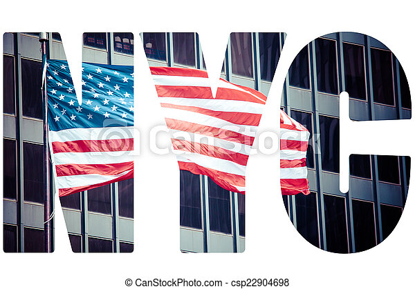 An American flag in New York. - csp22904698