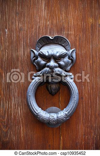 An Antique Door Knocker - csp10935452