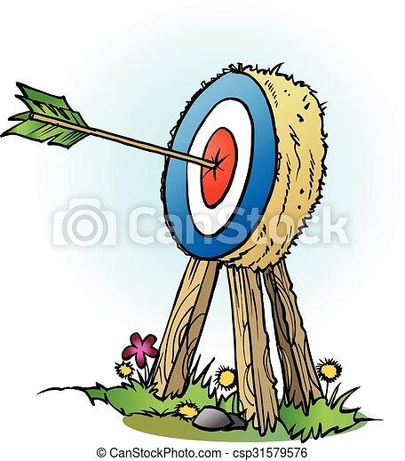 An arrow in bulls eye - csp31579576