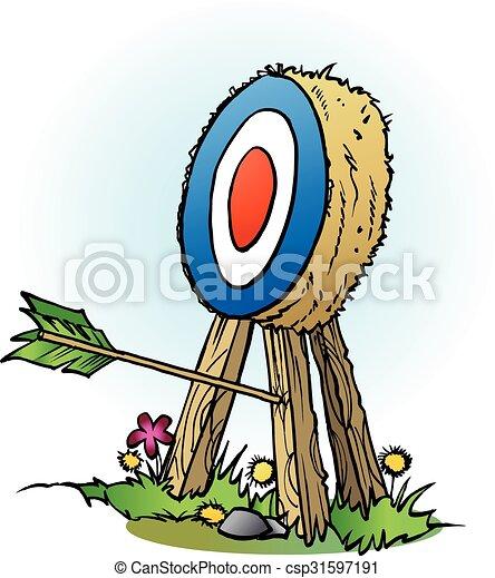 An arrow in targets leg - csp31597191