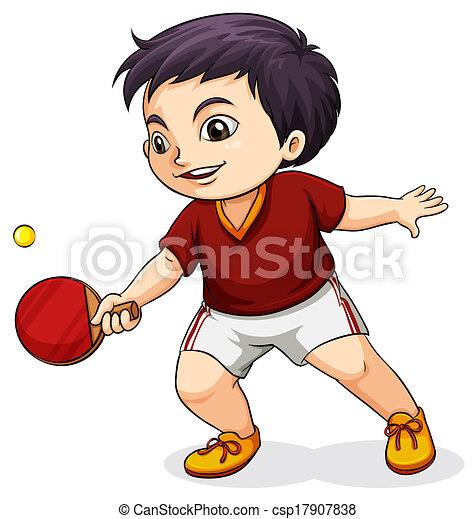 An Asian boy playing tabletennis - csp17907838