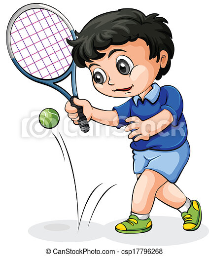illustration of an asian tennis player on a white background clip rh canstockphoto com clipart tennis shoes clip art tennis shoe