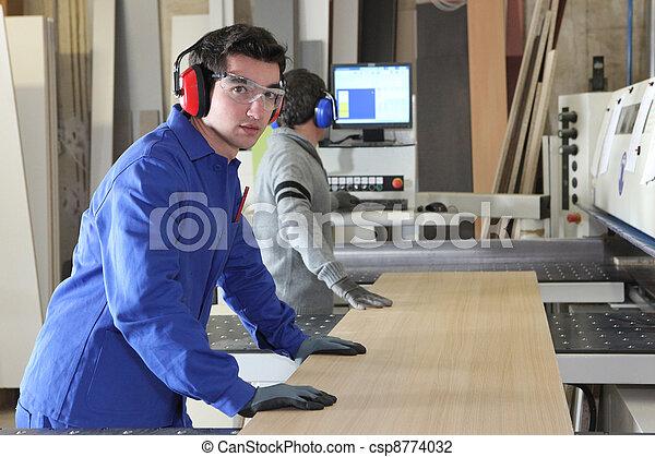 An assembly line - csp8774032