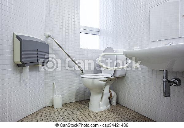 an disabled toilet - csp34421436